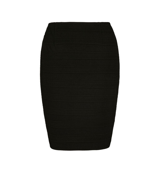 Banded Tulip Skirt, Black, hi-res