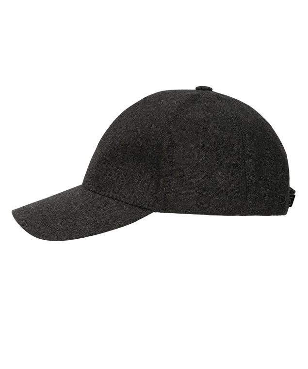 Flannel Baseball Cap, Charcoal, hi-res