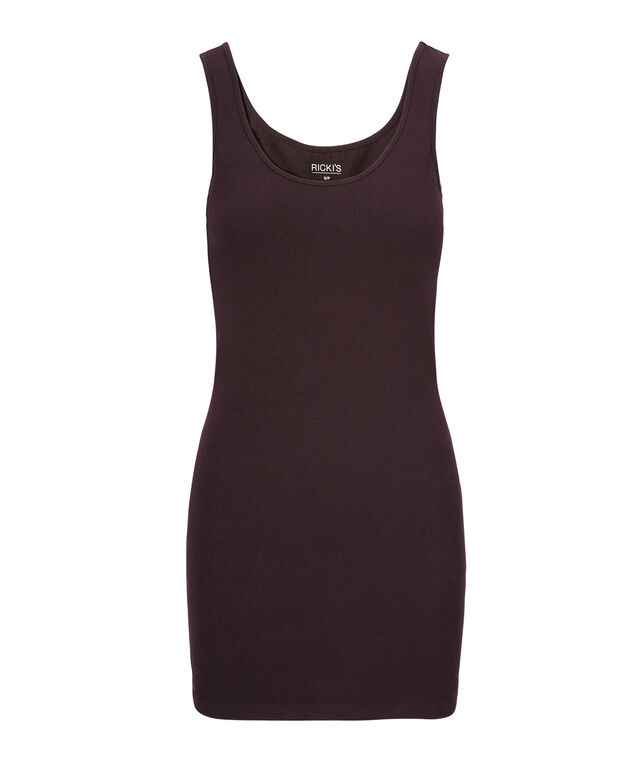 Tunic Length Cami, Dark Plum, hi-res