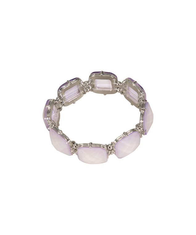 Stretch Square Bracelet, Lavender/Rhodium, hi-res