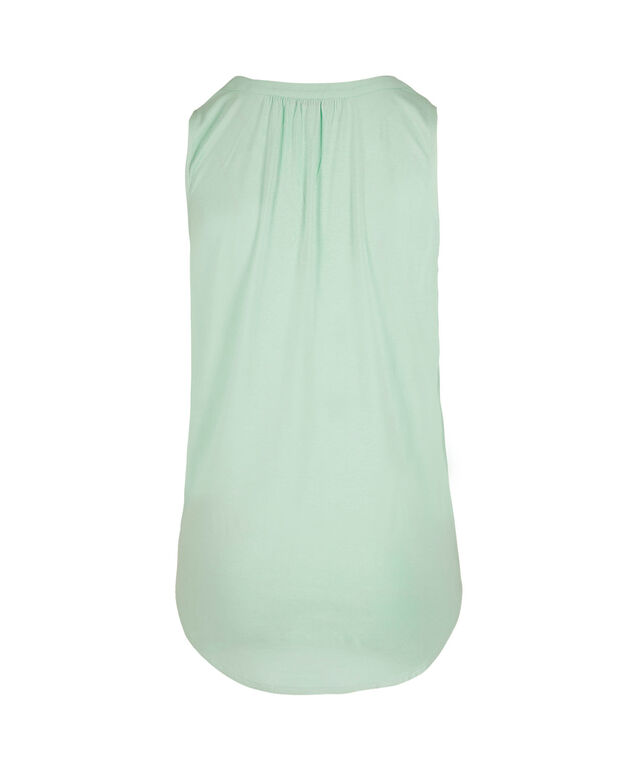 Sleeveless Henley Top, Mint, hi-res