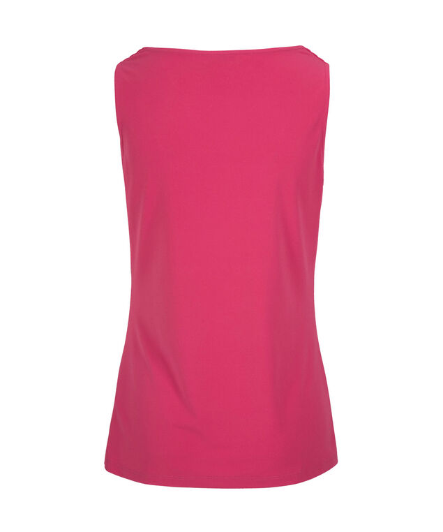Pleated Cowl Neck Tank, Hot Pink, hi-res