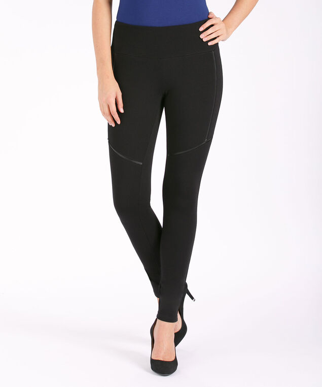 Luxe Ponte Instant Smooth Seam Legging, Black, hi-res