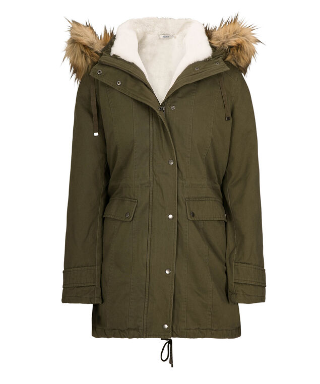 3-In-1 Cotton Anorak Coat, Olive, hi-res