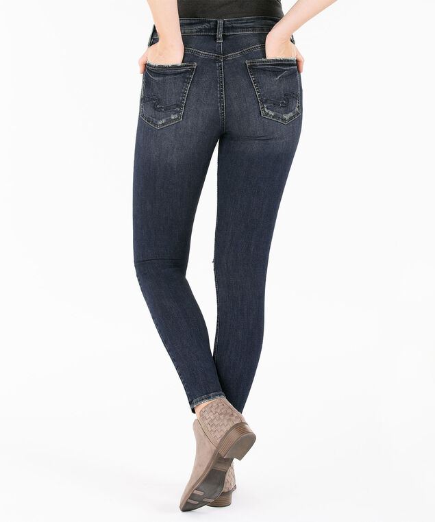 Silver Jeans Co. Avery Distressed Skinny Jean, Mid Wash, hi-res