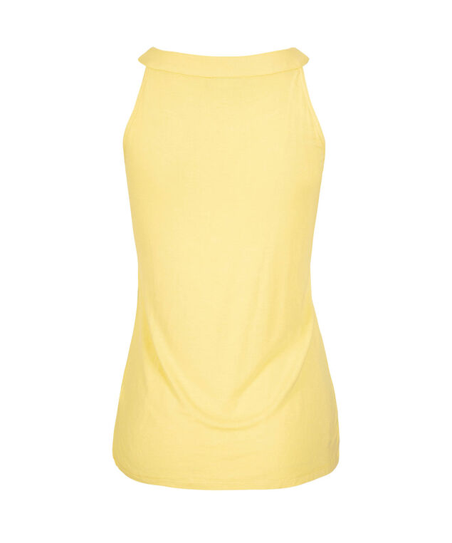 Cut-Out Halter Style Top, Yellow, hi-res
