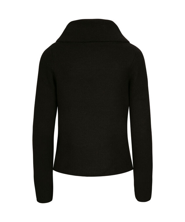 One-Button Sweater Jacket, Black, hi-res