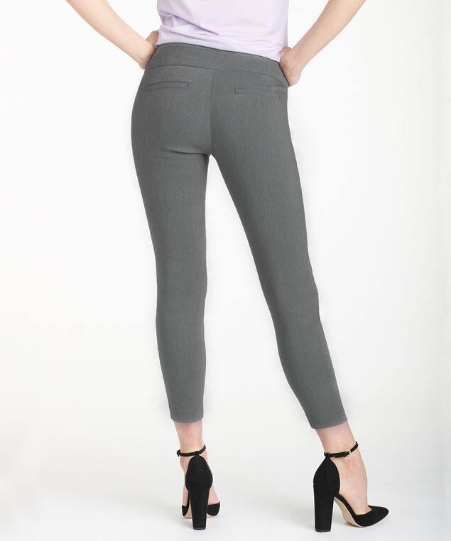 Microtwill Instant Smooth Ankle Pant, Heather Grey, hi-res