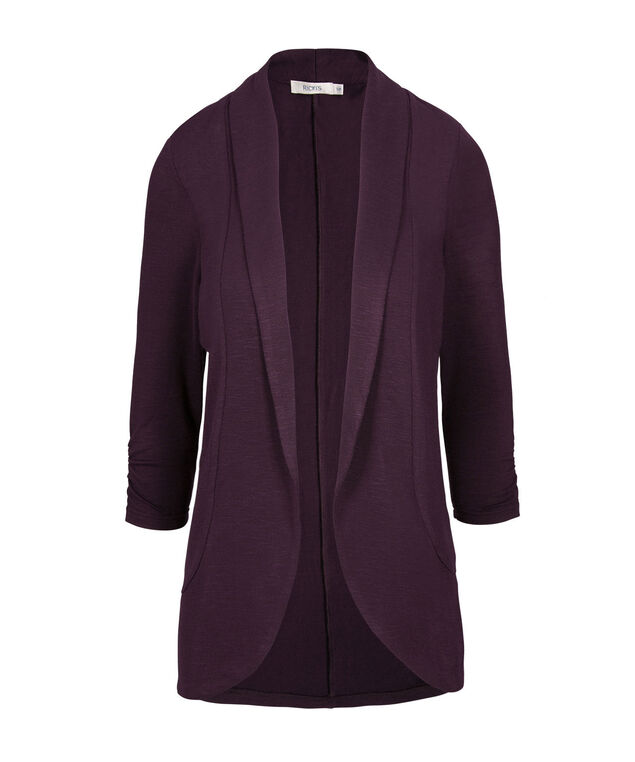 Shawl Collar Cover up, Blackberry, hi-res