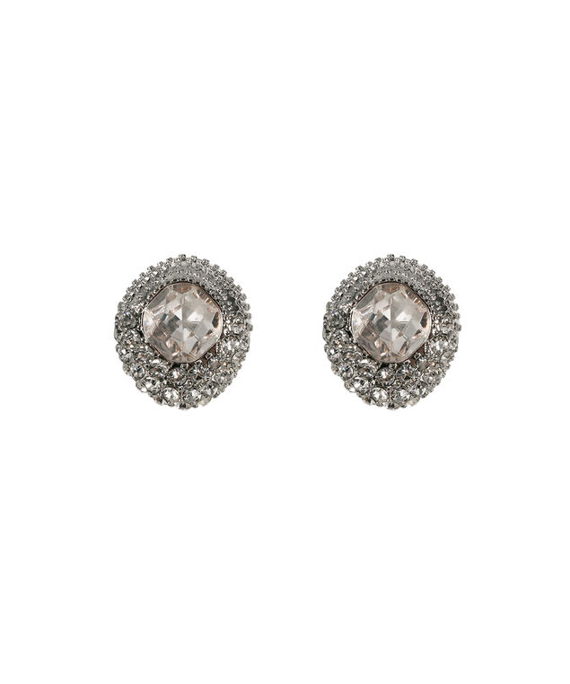 Crystal Framed Faceted Stone Stud Earring, Blush/Rhodium, hi-res