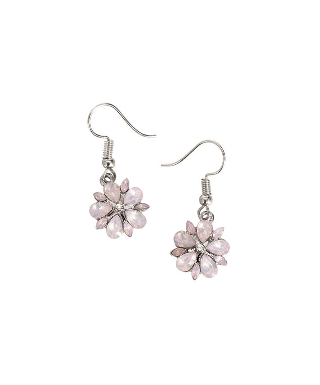 Floral Crystal Earring, Lavender/Peach/Rhodium, hi-res