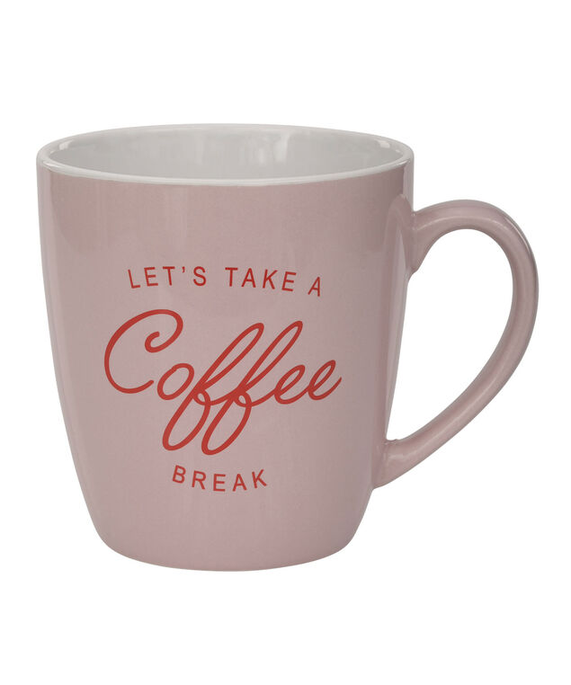 """Coffee Break"" Jumbo Mug, Pink/Red, hi-res"