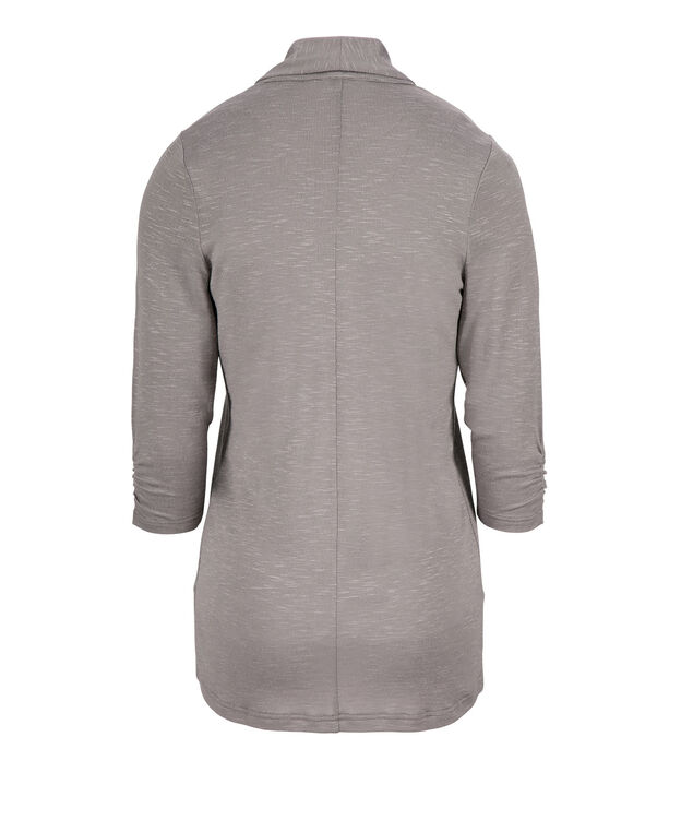 Shawl Collar Cardigan, Grey, hi-res