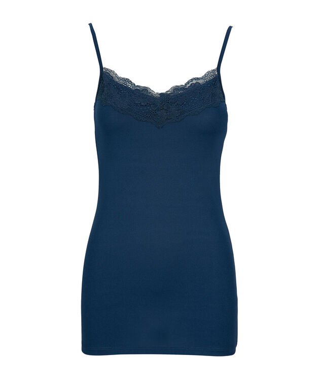 Lace Trim Cami, Deep Teal, hi-res
