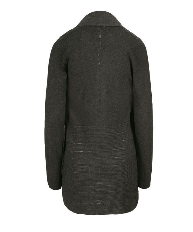 Mid Pointelle Cardigan, Charcoal, hi-res