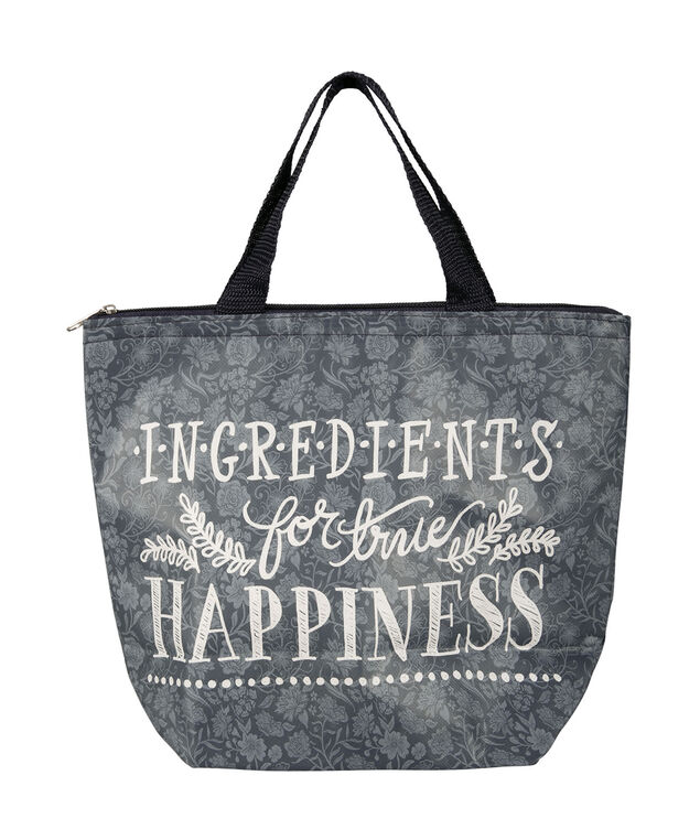 Ingredients For Happiness Lunch Tote, Grey/White, hi-res