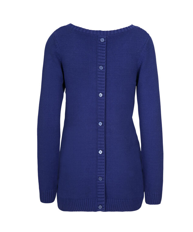 Button Back Pullover, Cobalt, hi-res