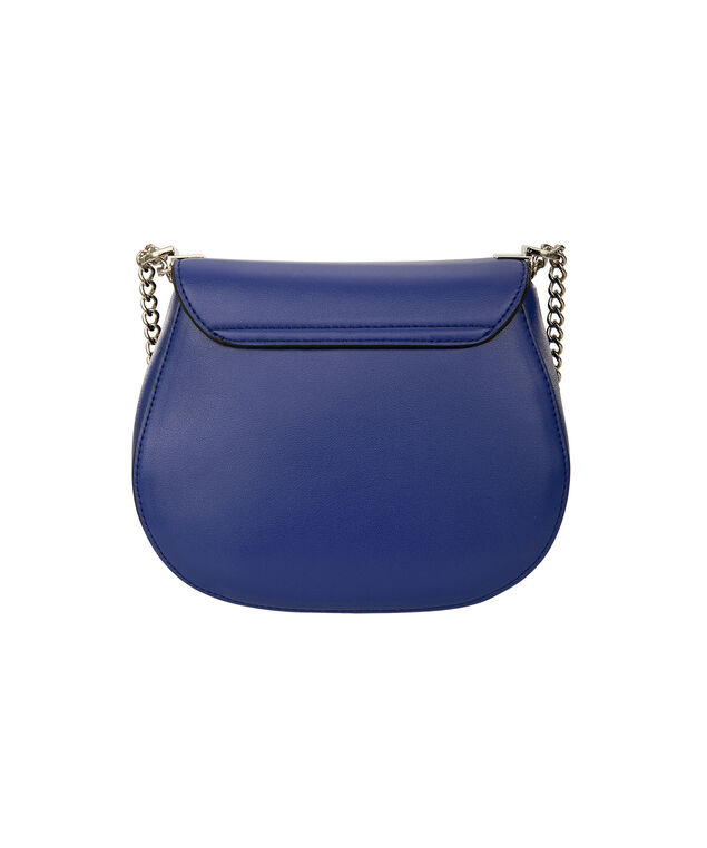 Small Cross Body Saddle Bag, Cobalt/Silver, hi-res
