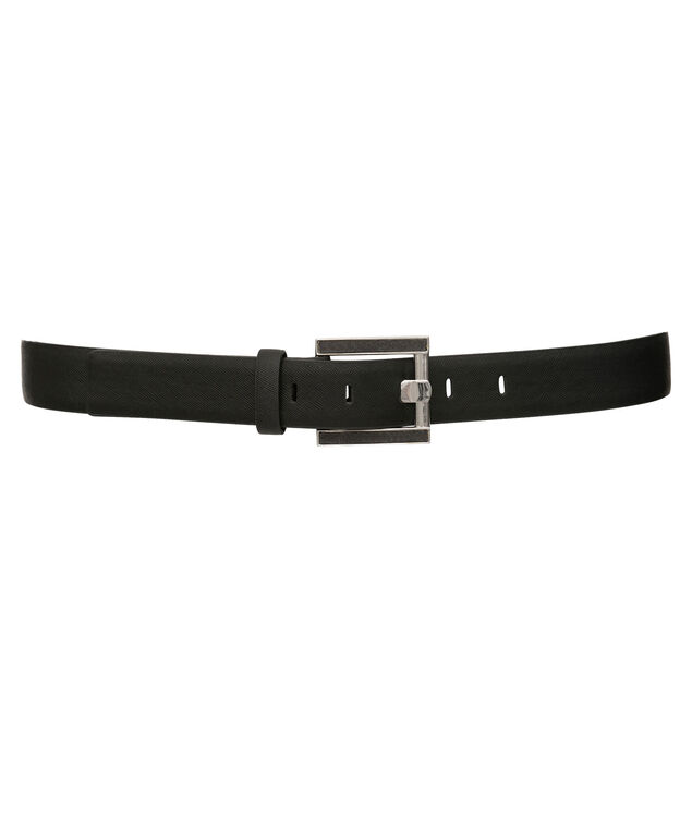 Black Textured Pant Belt, Black, hi-res