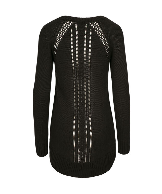 V-Neck Pullover, Black, hi-res