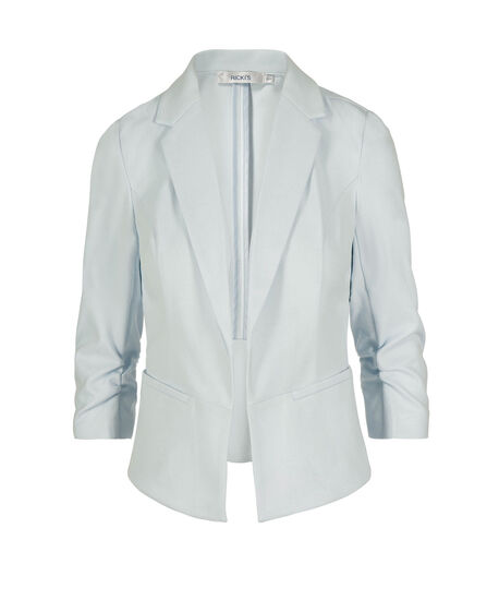 Cropped Knit Open Blazer, Frosted Blue, hi-res