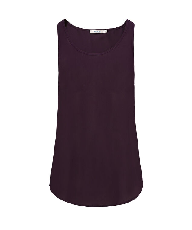 Woven Layering Cami, Blackberry, hi-res