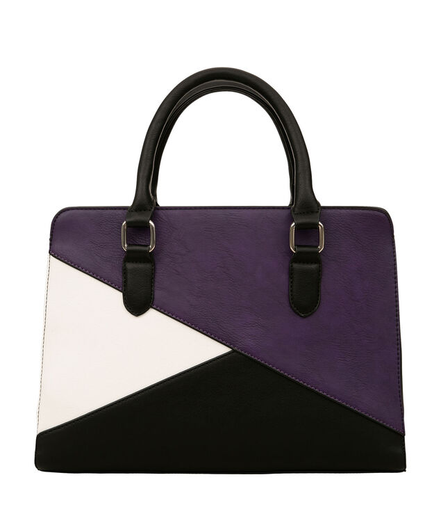 East-West Bag, Amethyst/Black/White, hi-res