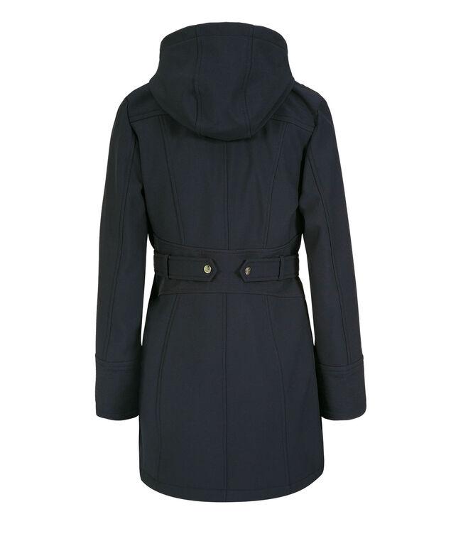 Tab Back Detail Hooded Soft-Shell Jacket, Navy, hi-res