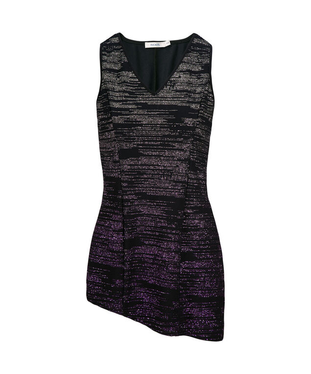 Ombre Asymmetrical Tank, Blue/Purple, hi-res