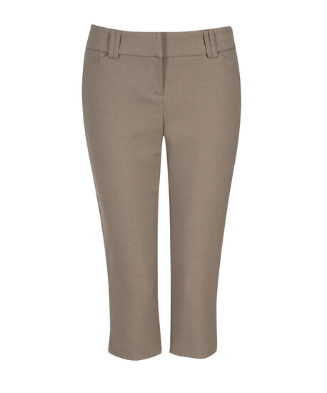 Slant Pocket Capri in Stone, Stone, hi-res