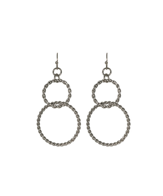 O-Ring Link Earring, Rhodium, hi-res