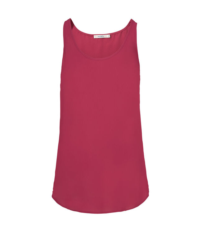 Woven Layering Cami, Raspberry, hi-res