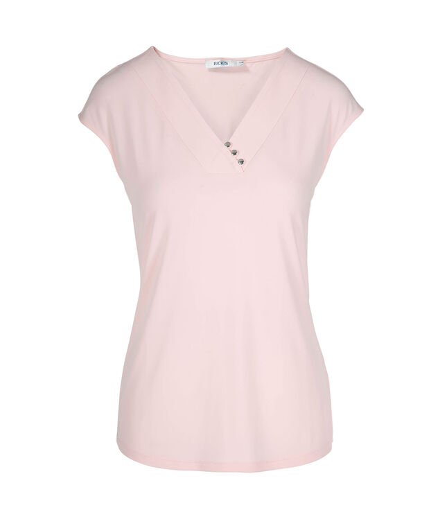 Extended Sleeve Button Detail Top, Misty Pink, hi-res