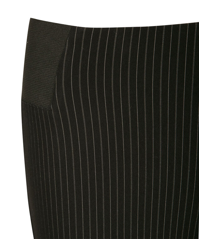 Microtwill Pinstripe Ankle, Black Pinstripe, hi-res