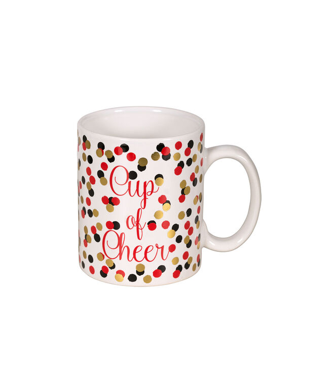 Cup of Cheer Mug, Red/White/Gold, hi-res