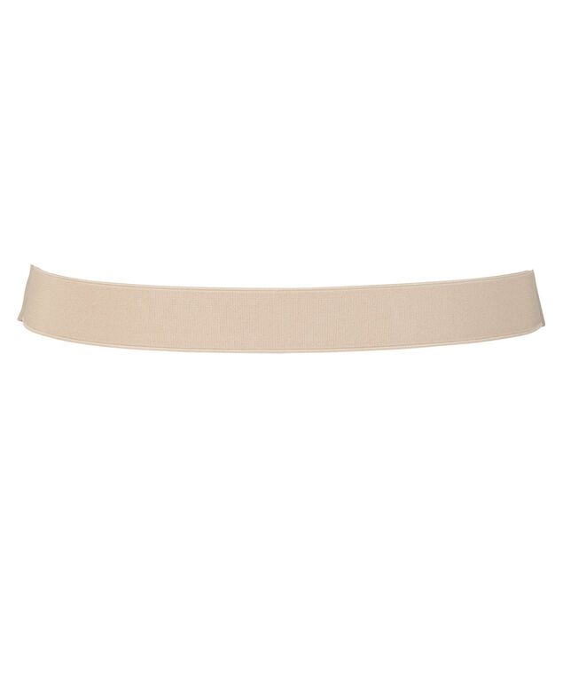 Quilted Faux Leather Stretch Belt, Cream, hi-res