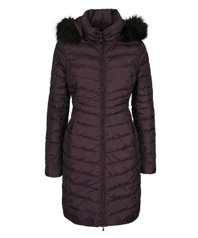 Button Side Puffer Coat, Blackberry, hi-res