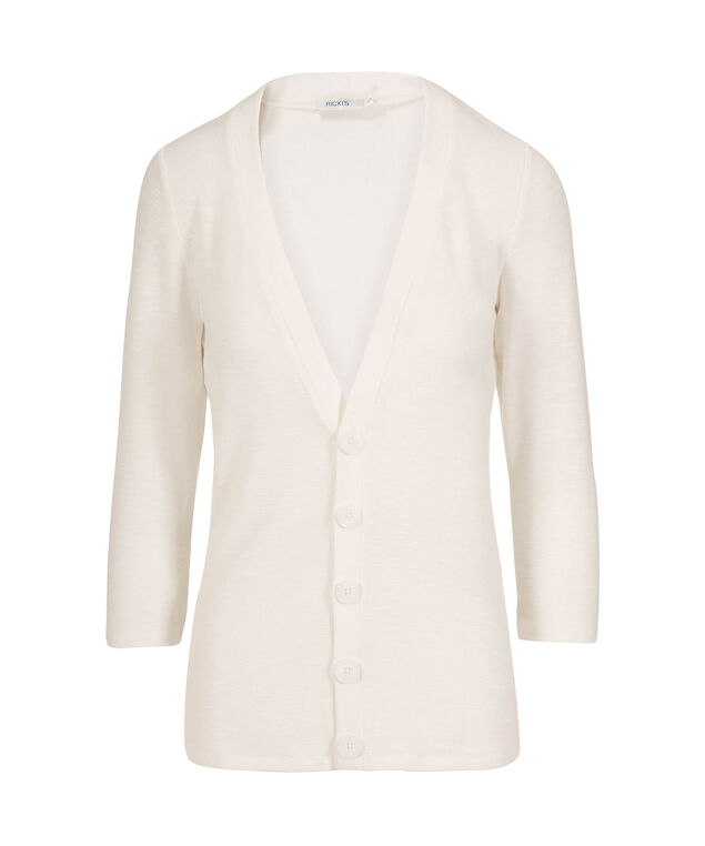Button Up Cardigan, White, hi-res