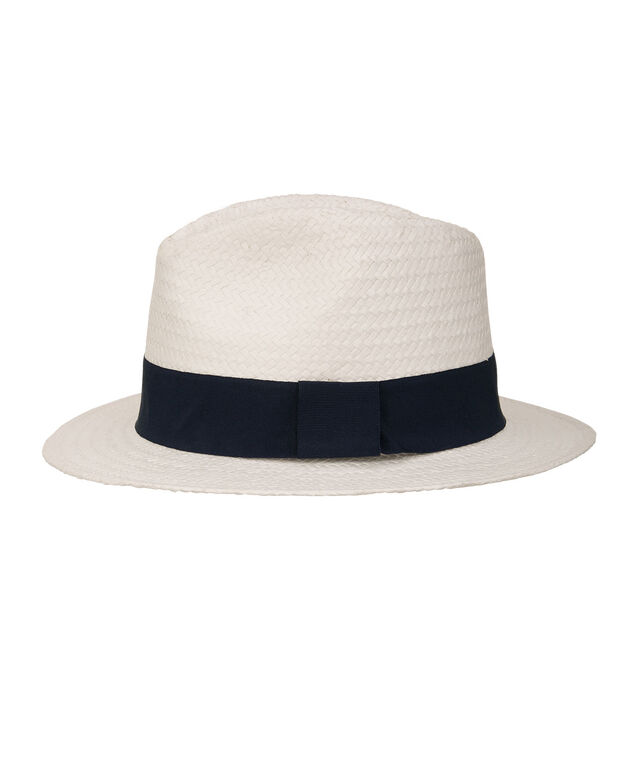 Woven Paper Panama Hat, Navy/White, hi-res