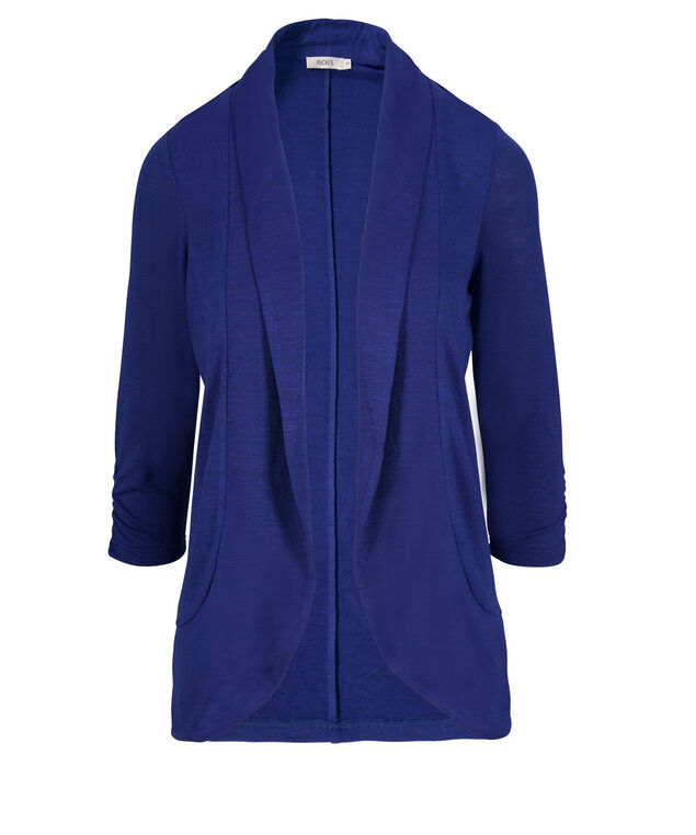 Shawl Collar Cover-Up, Ultra Blue, hi-res