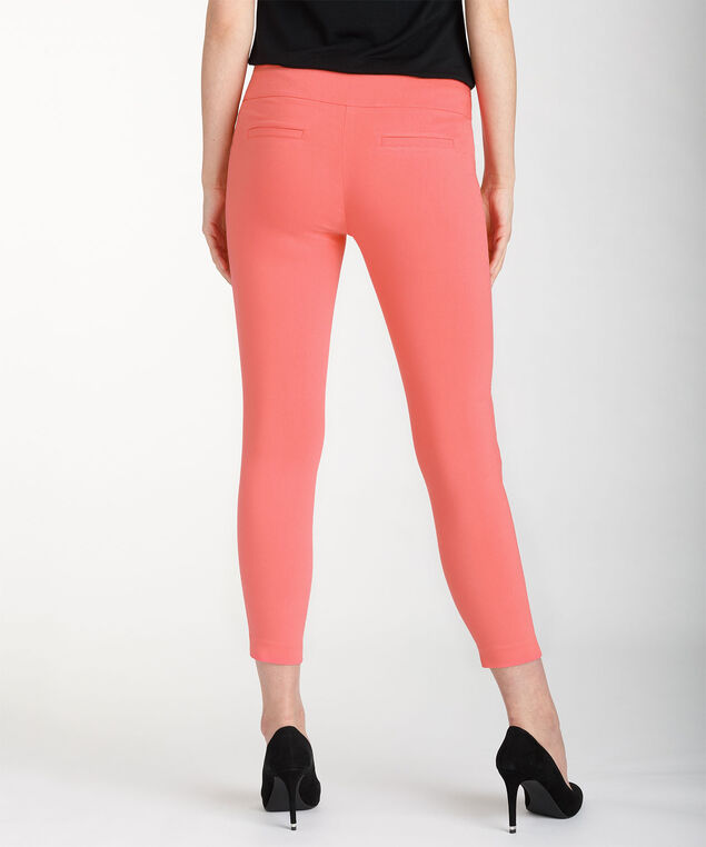 Microtwill Instant Smooth Ankle Pant, Bright Coral, hi-res