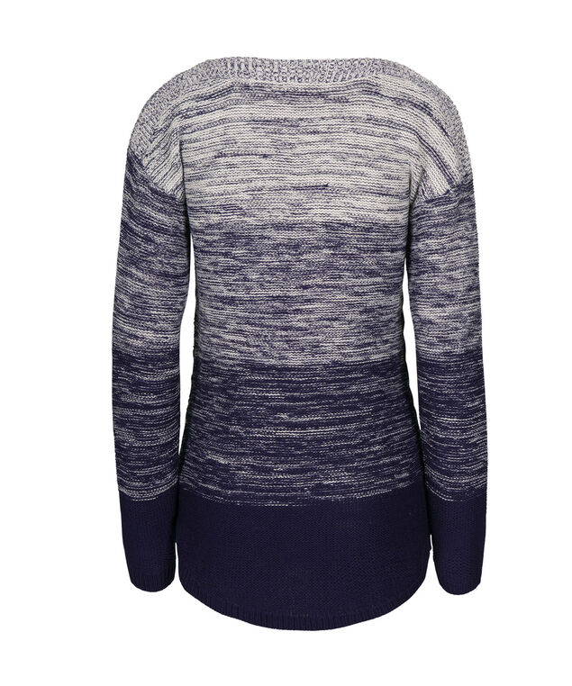 Ombre Shirt Tail Sweater, Deep Sapphire, hi-res