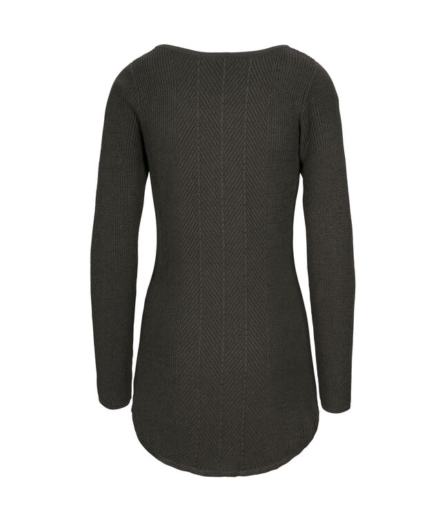 Multi Rib Tunic Pullover, Charcoal, hi-res