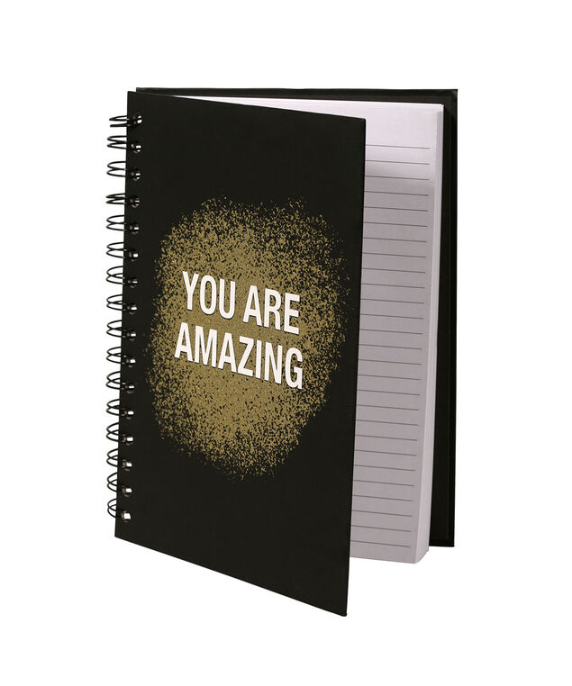 YOU ARE AMAZING NOTEBOOK, Black/Gold/White, hi-res
