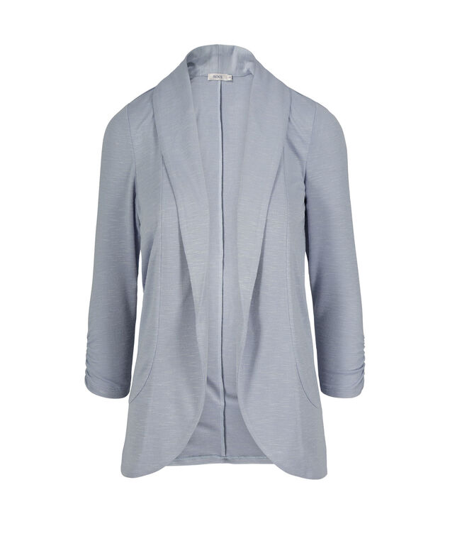 Shawl Collar Cover-Up, Chalk Blue, hi-res