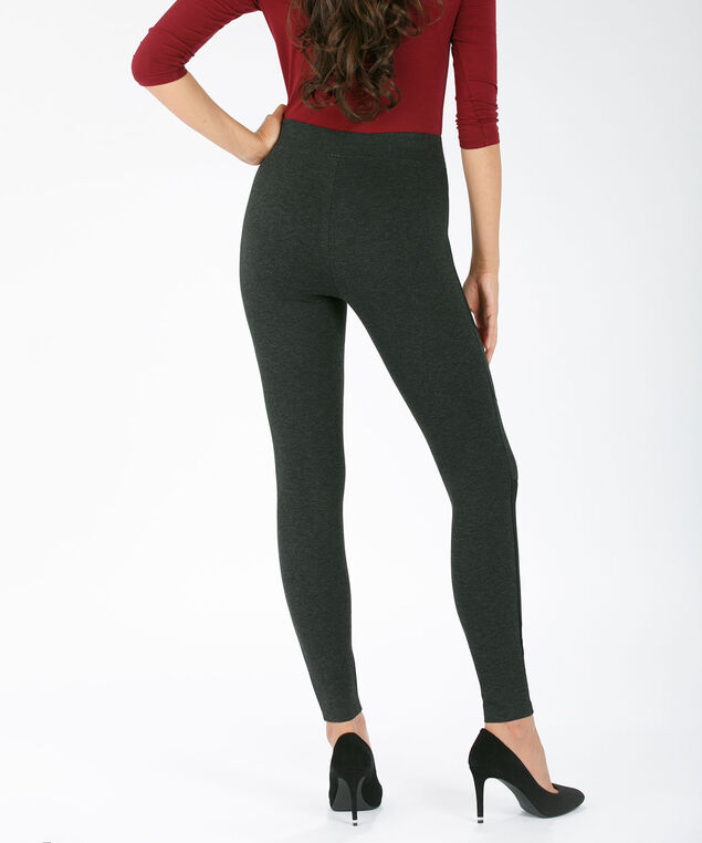 Luxe Ponte Charcoal Moto Legging, Charcoal, hi-res