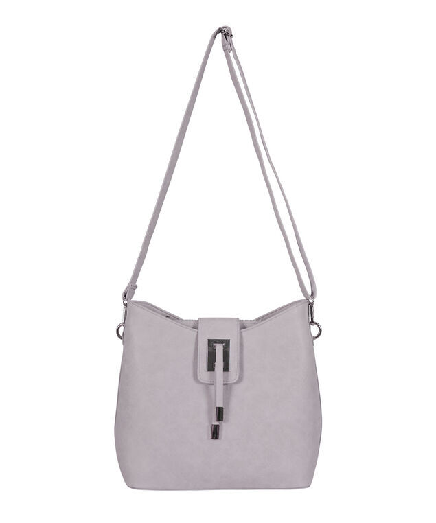 Tassel Bucket Bag, Lavender/ Nickle, hi-res