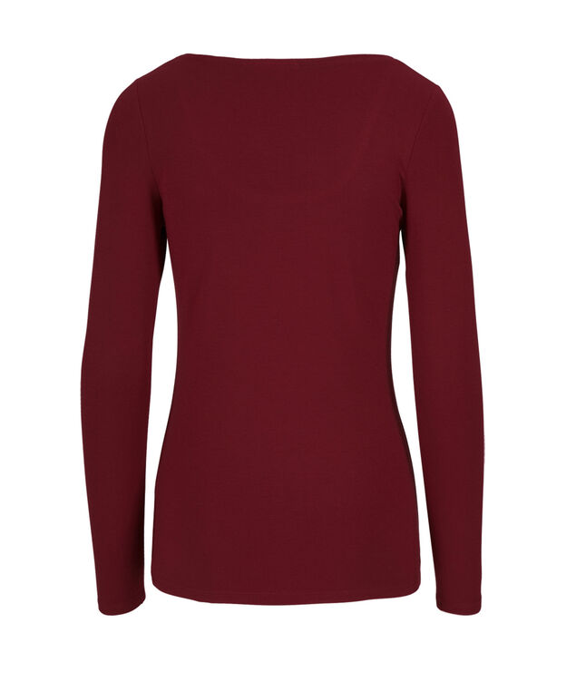 Super Soft Essential Tee, Cranberry, hi-res