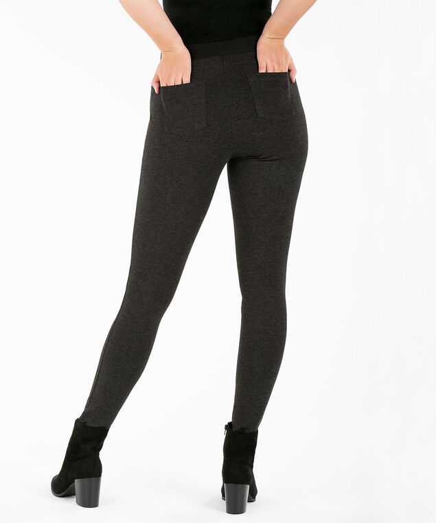 Luxe Ponte Legging, Charcoal, hi-res