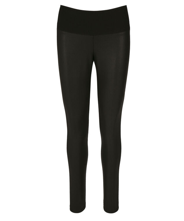 Instant Smooth Textured Luxe Ponte Legging, Black, hi-res